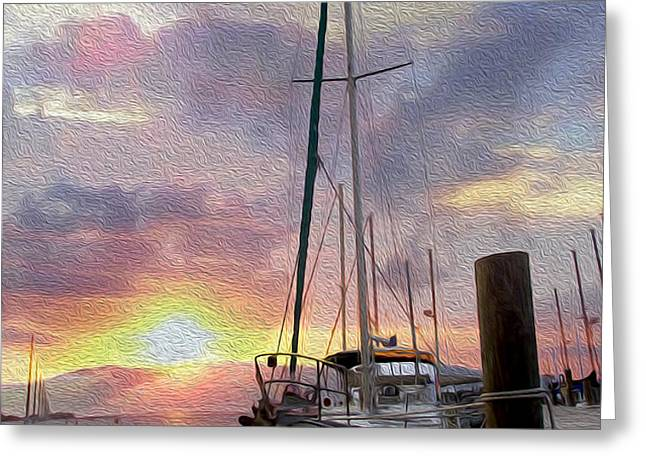 Sailboat Greeting Card by Jon Neidert