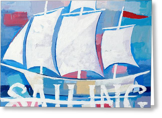 """sailing Ship"" Greeting Cards - Sailing Greeting Card by Lutz Baar"