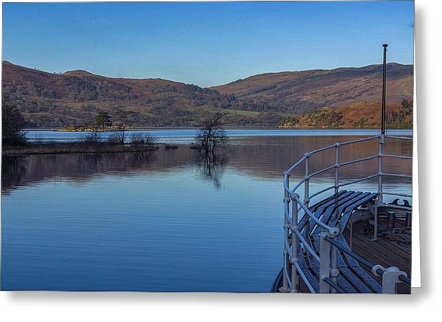 Jetty View Park Greeting Cards - Sailing on Ullswater Greeting Card by Trevor Kersley