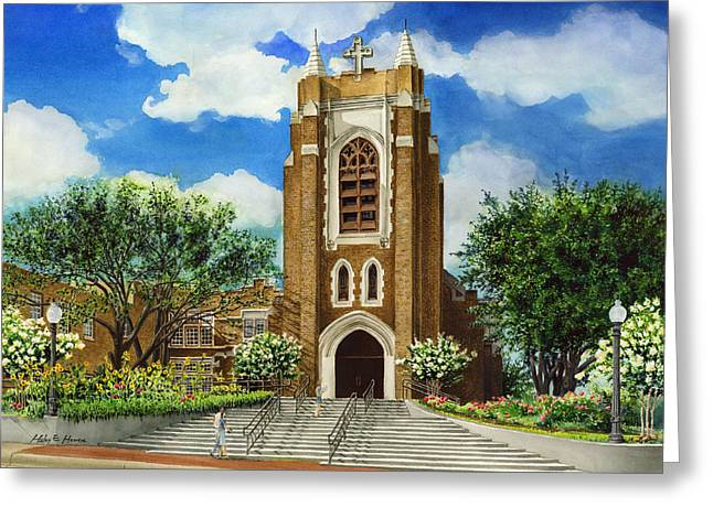 Revival Greeting Cards - Saint Andrews Episcopal Church Bryan Texas Greeting Card by Hailey E Herrera