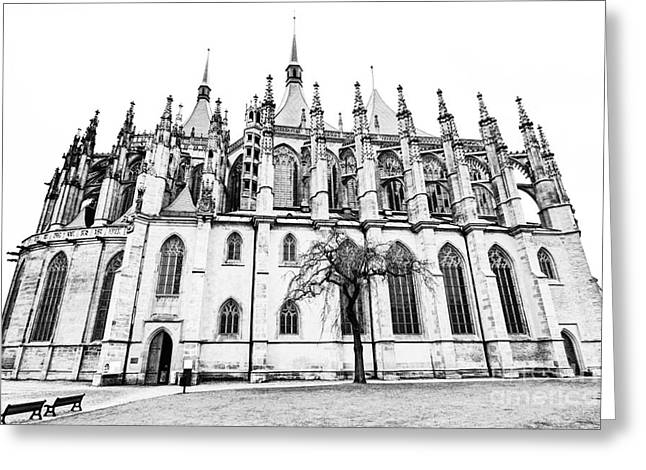 Saint Barbara Greeting Cards - Saint Barbara Church  Greeting Card by Michal Boubin
