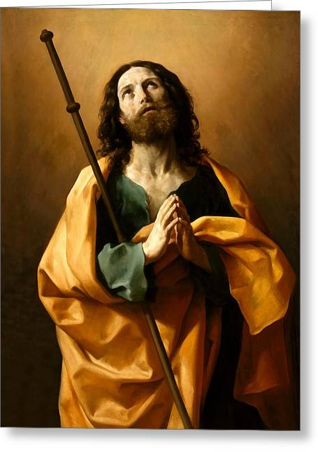 The Followers Digital Art Greeting Cards - Saint James The Greater Greeting Card by Guido Reni
