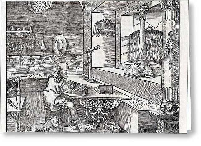 Translate Greeting Cards - Saint Jerome, 16th-century Bible Greeting Card by King