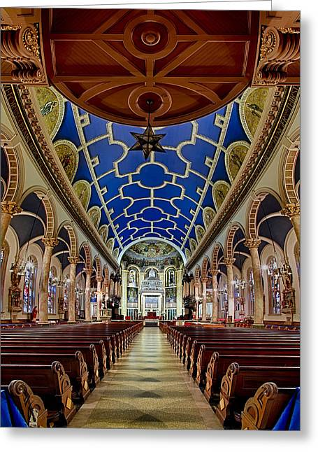 Altar Art Greeting Cards - Saint Michael Church Greeting Card by Susan Candelario