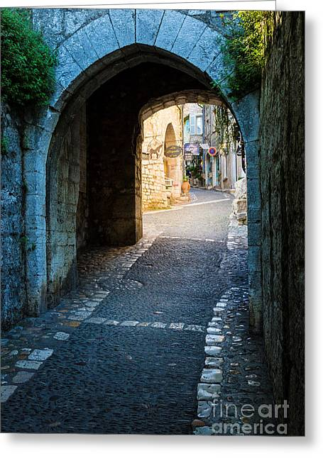Vence Greeting Cards - Saint Paul Entrance Greeting Card by Inge Johnsson