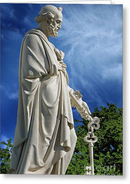 Spiritual Greeting Cards - Saint Peter with Keys to Heaven Greeting Card by Peter Piatt