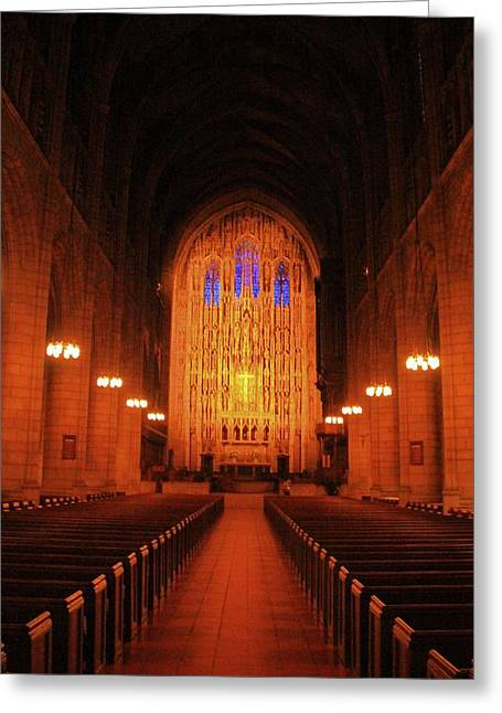 Candle Lit Greeting Cards - Saint Thomas Church Greeting Card by Dan Sproul
