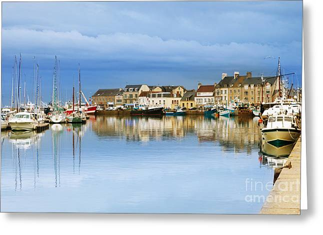 Editorial Greeting Cards - Saint-Vaast-La-Hougue Normandy France Greeting Card by Colin and Linda McKie