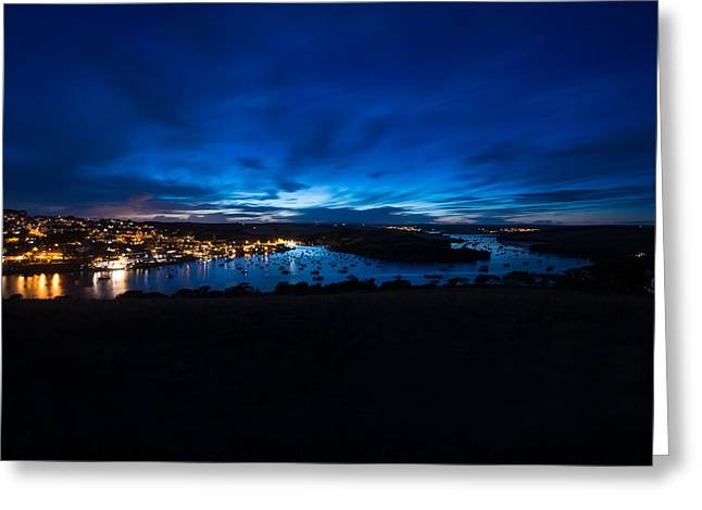 Ollie Greeting Cards - Salcombe Twilight Greeting Card by Ollie Taylor