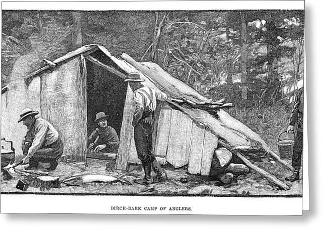 Salmon Fishing, 1890 Greeting Card by Granger