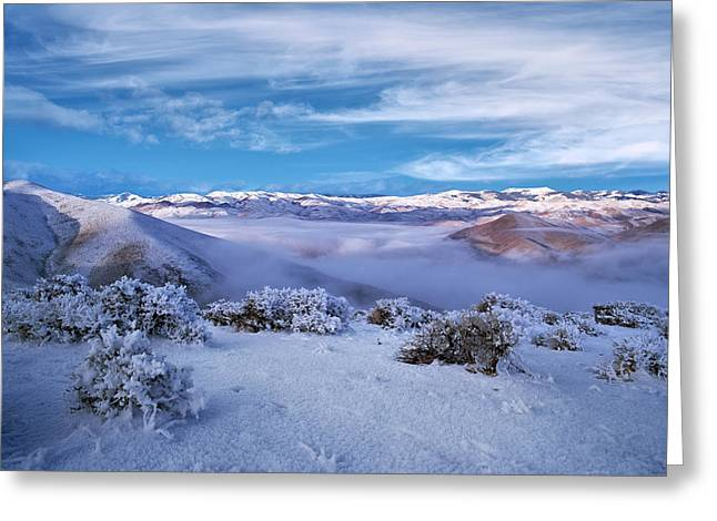 Salmon River Mountains Greeting Card by Leland D Howard