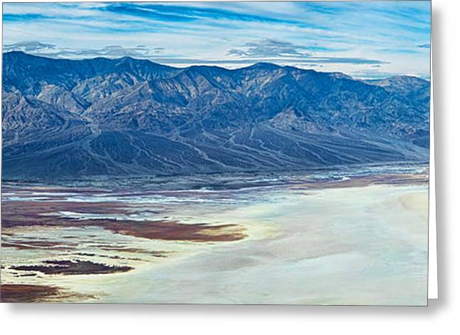 Salt Flat Images Greeting Cards - Salt Flats Viewed From Dantes View Greeting Card by Panoramic Images