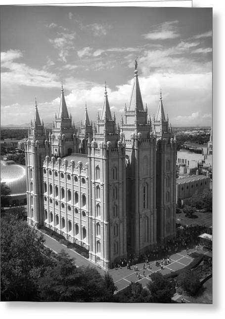 Salt Lake City Temple Greeting Cards - Salt Lake City Temple Greeting Card by Mountain Dreams