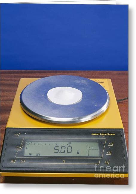 Paper Weight Greeting Cards - Salt On Scales Greeting Card by Andrew Lambert Photography