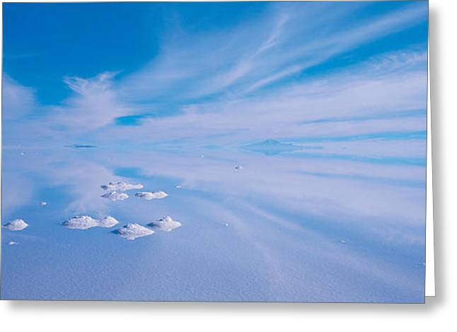 Salt Flat Images Greeting Cards - Salt Pyramids On Salt Flat, Salar De Greeting Card by Panoramic Images