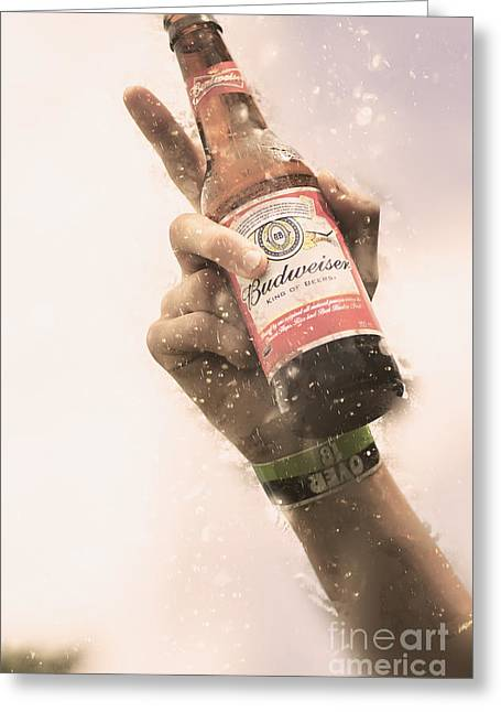 Salute To Beer Drinking Songs  Greeting Card by Jorgo Photography - Wall Art Gallery