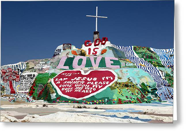 Salvation Mountain Greeting Cards - Salvation Mountain in Callpatria Greeting Card by Carol M Highsmith