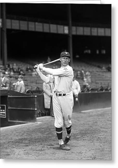 Baseball Bat Greeting Cards - Sam Rice Greeting Card by Retro Images Archive