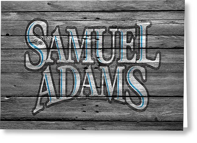Adam Greeting Cards - Samuel Adams Greeting Card by Joe Hamilton