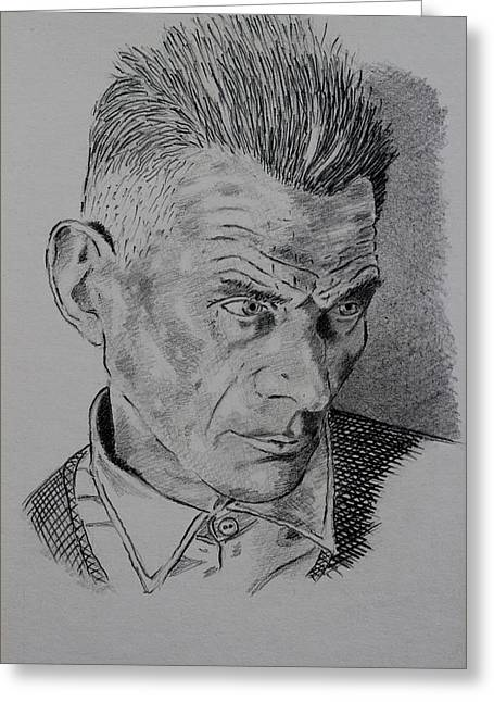 Samuel Beckett Greeting Card by John  Nolan
