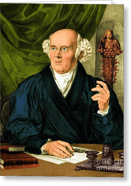 Homeopathist Greeting Cards - Samuel Hahnemann, Physician, Father Greeting Card by Science Source