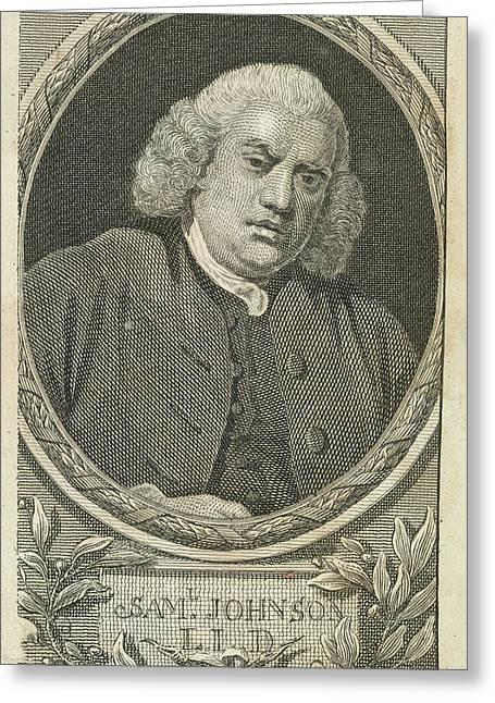 Samuel Johnson Greeting Card by British Library