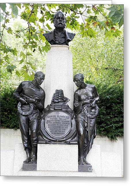 And Merchant Ships Greeting Cards - Samuel Plimsoll Commemorative Monument Greeting Card by Sheila Terry
