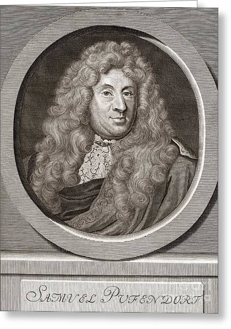 Samuel Greeting Cards - Samuel Pufendorf, German Jurist Greeting Card by Middle Temple Library