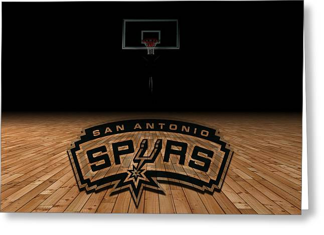 Basketballs Greeting Cards - San Antonio Spurs Greeting Card by Joe Hamilton