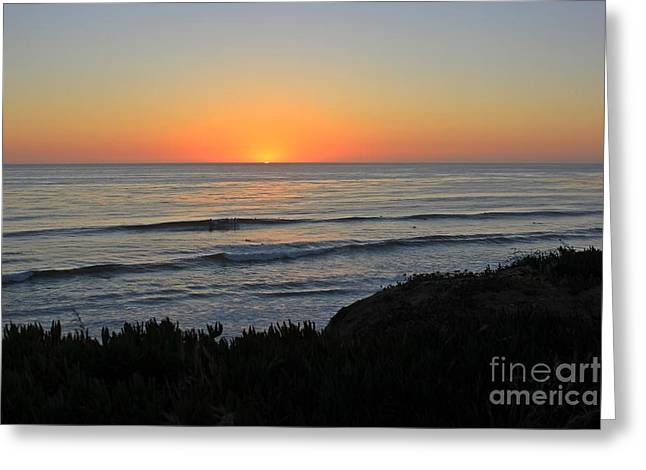 California Beach Greeting Cards - San Elijo Sunset Greeting Card by Traci Lehman