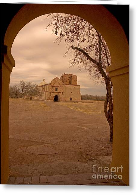 Historic Architecture Greeting Cards - San Felipe De Neri Church Greeting Card by Richard and Ellen Thane
