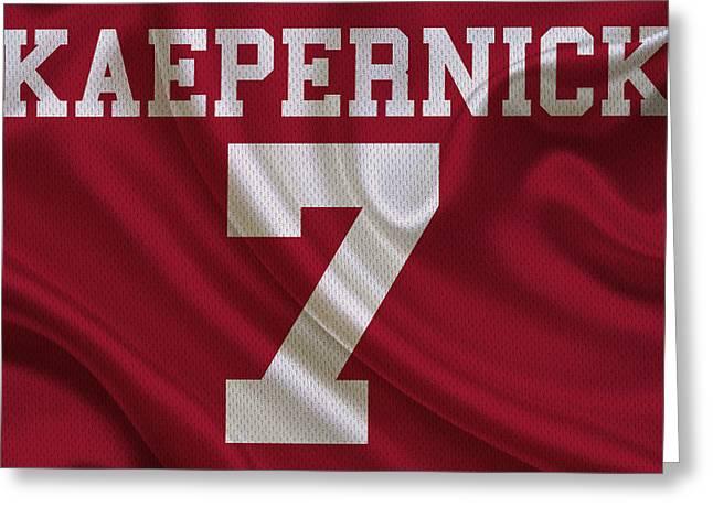San Francisco 49ers Colin Kaepernick Greeting Card by Joe Hamilton