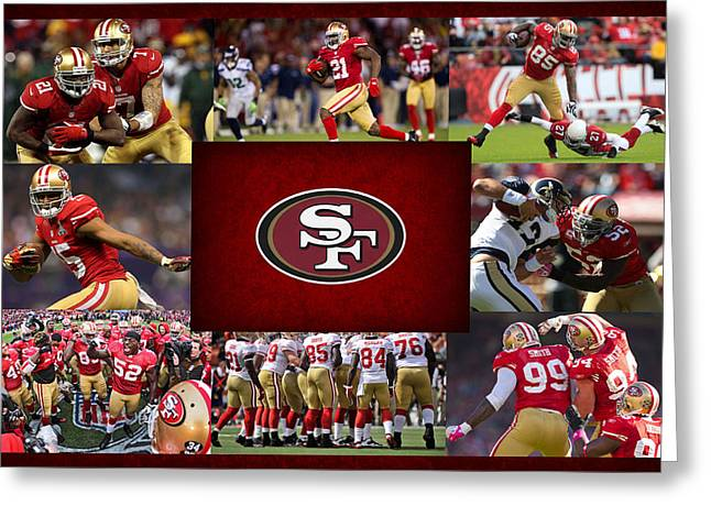 Shoes Greeting Cards - San Francisco 49ers Greeting Card by Joe Hamilton