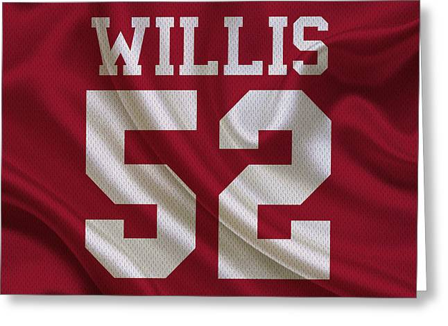 Patrick Willis Greeting Cards - San Francisco 49ers Patrick Willis Greeting Card by Joe Hamilton
