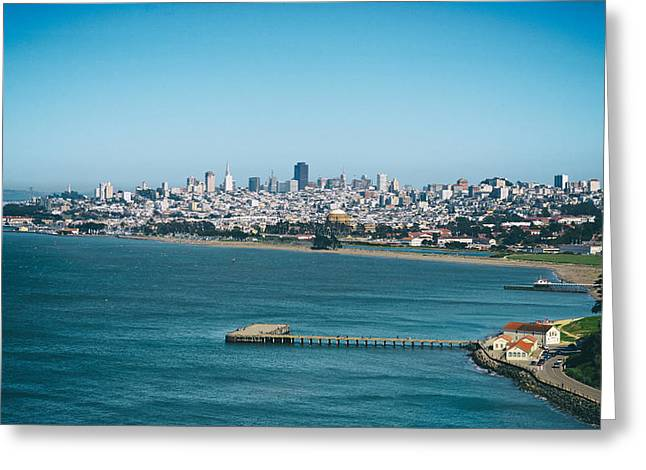 Downtown San Francisco Greeting Cards - San Francisco by the Bay Greeting Card by Mountain Dreams