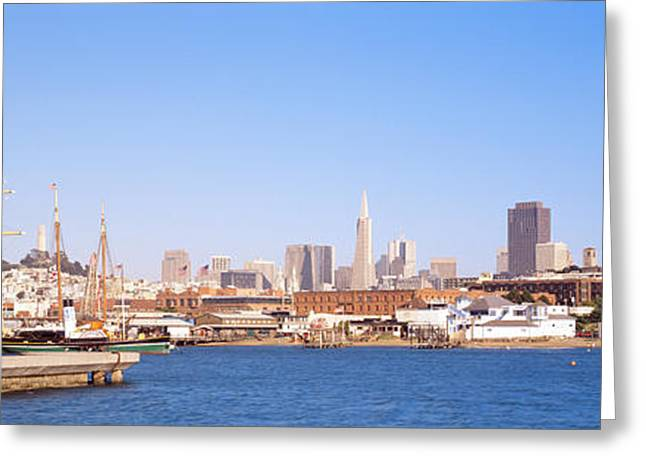 Tall Ships Greeting Cards - San Francisco Ca Greeting Card by Panoramic Images