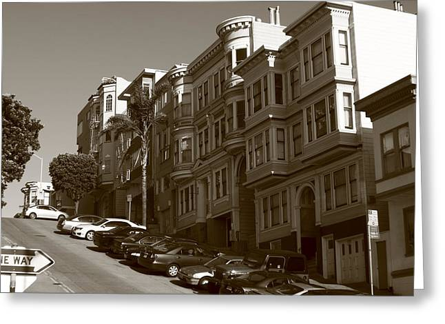 Aidan Moran Photography Greeting Cards - San Francisco Hills  Greeting Card by Aidan Moran