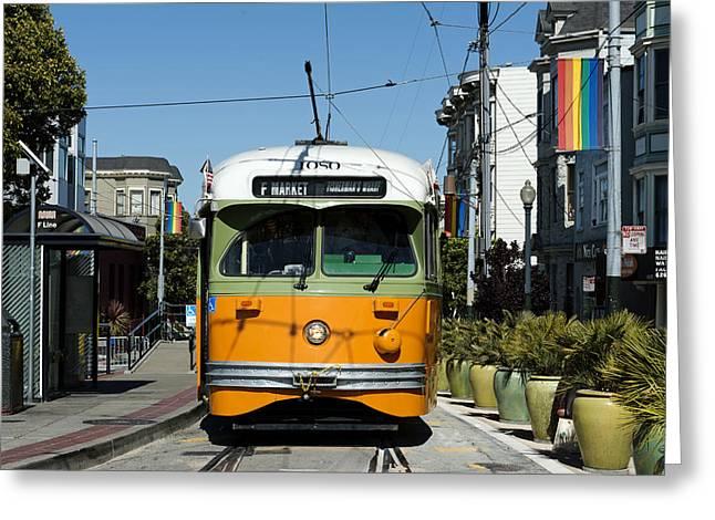 Rail Line Greeting Cards - San Francisco Transit Car Greeting Card by Mountain Dreams