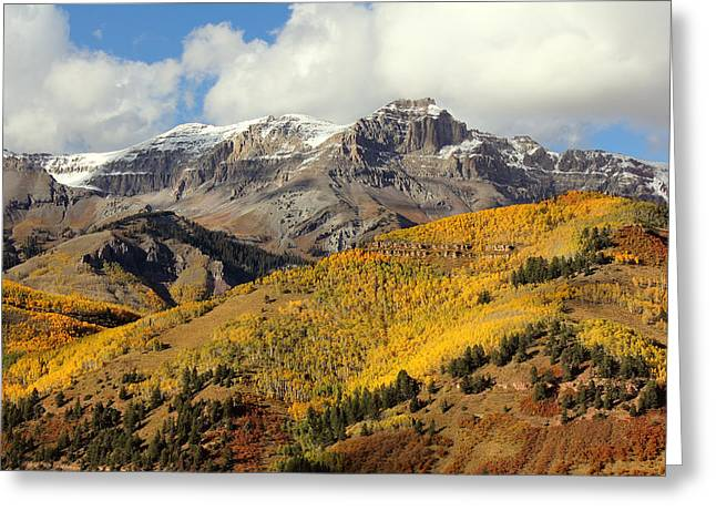 Fall Pyrography Greeting Cards - Colorado San Juan Mountains Fall 2014 Greeting Card by Brett Pfister