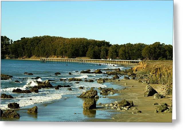 Barbara Snyder Greeting Cards - San Simeon Pier Greeting Card by Barbara Snyder