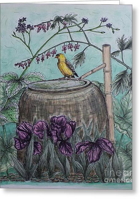 Water Vessels Mixed Media Greeting Cards - Sanctuary Greeting Card by Kim Jones