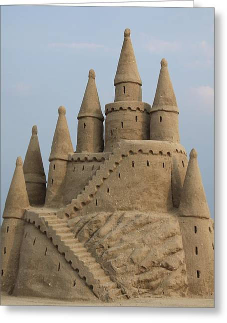 Sand Castles Greeting Cards - Sand Castle Greeting Card by Steve Tracy