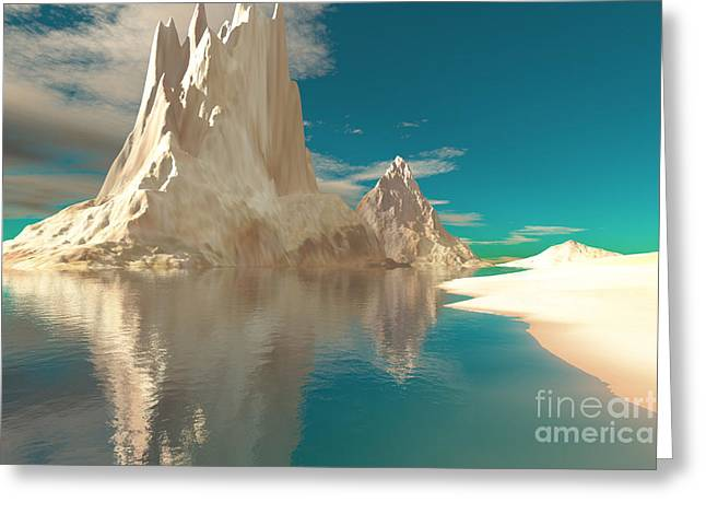 Sand Castles Greeting Card by Corey Ford