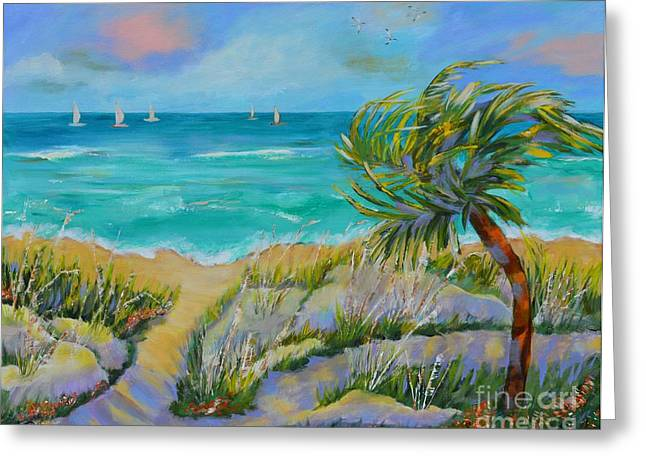 Sand Dunes Paintings Greeting Cards - Sand Dune Kinda Day Greeting Card by Lynn Rattray