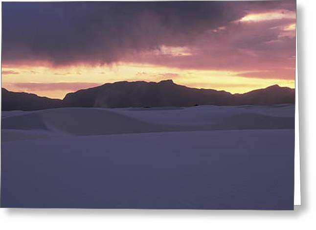 Sand Dunes In A Desert At Dusk, White Greeting Card by Panoramic Images