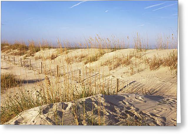 Sand Dunes On The Beach, Anastasia Greeting Card by Panoramic Images