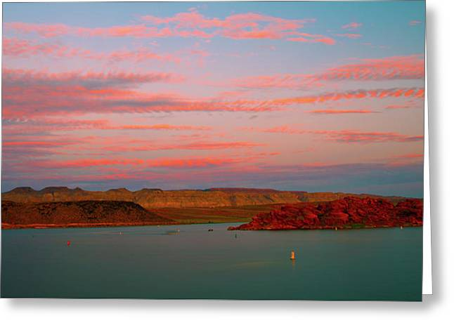 Sand Hollow River  Sunset 1 Greeting Card by Gilbert Artiaga