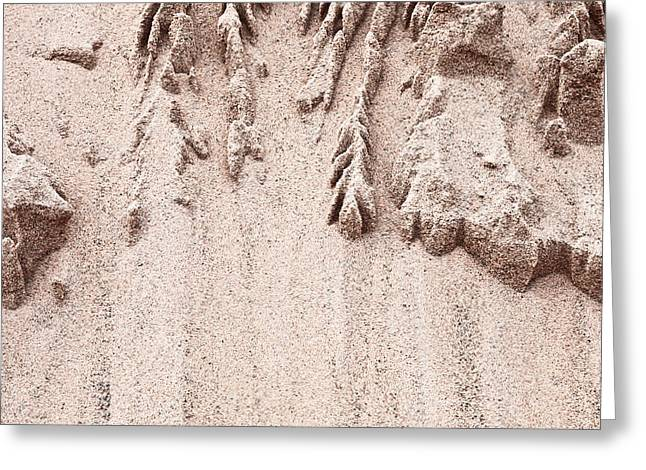 Mound Greeting Cards - Sand pattern Greeting Card by Tom Gowanlock