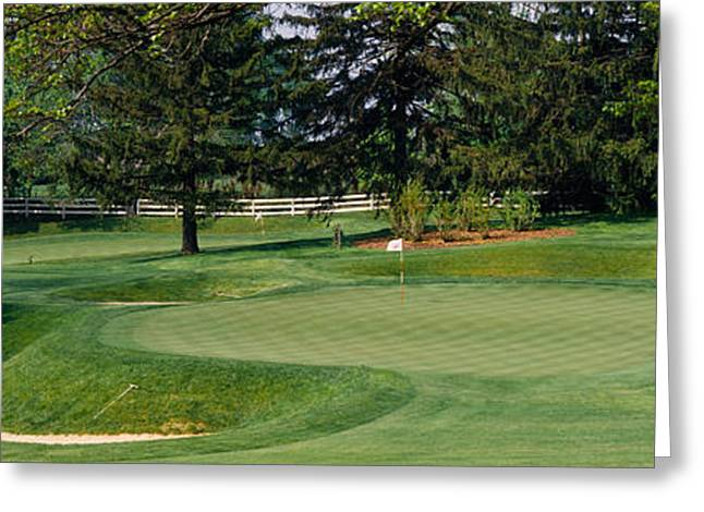 Sand Pattern Greeting Cards - Sand Traps On A Golf Course, Baltimore Greeting Card by Panoramic Images