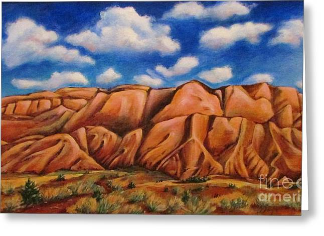 Recently Sold -  - Sienna Greeting Cards - Sandia Mountains  NM Greeting Card by Beth Fischer